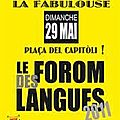 Forom des langues 2011