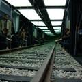 Dans la train de l'Art en gare 2008