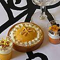 Verrines et tarte au citron