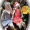 2 ptites lapines ( tuto du livre Tilda )