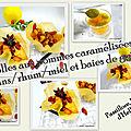 Corolles aux pommes caramélisées avec des <b>raisins</b> <b>secs</b>/rhum et des baies de goji