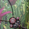 Collier baroque noir/prune