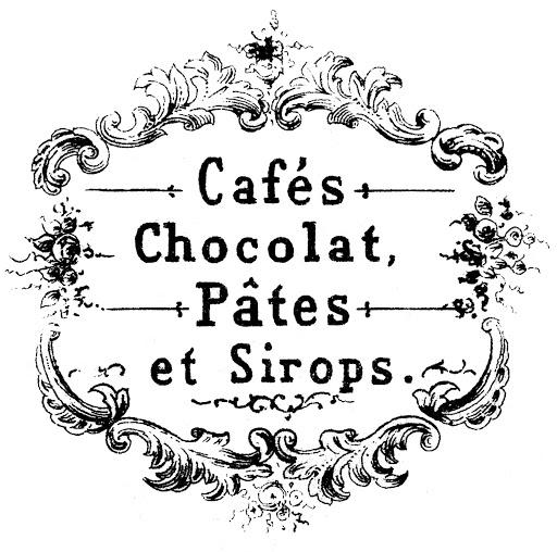 chocolat cafe vintage graphicsfairy3bwm