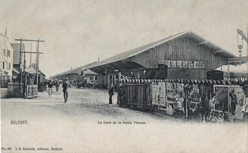 CPA Belfort Gare marchande 1900-03