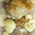Gratin de gnocchis au boeuf haché, basilic et mozzarella