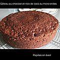 Gâteau express choco noix de coco au micro ondes