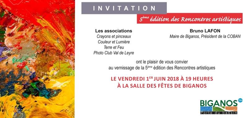 INVITATION RENCONTRES ARTISTIQUES 2018