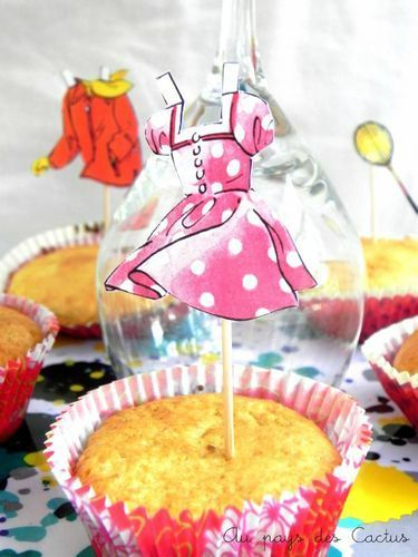 Cake toppers paper doll Au pays des Cactus