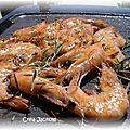 Gambas ou crevettes au thym