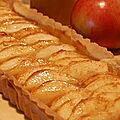 Tarte aux pommes, sans gluten, et son caramel au sirop d'érable...