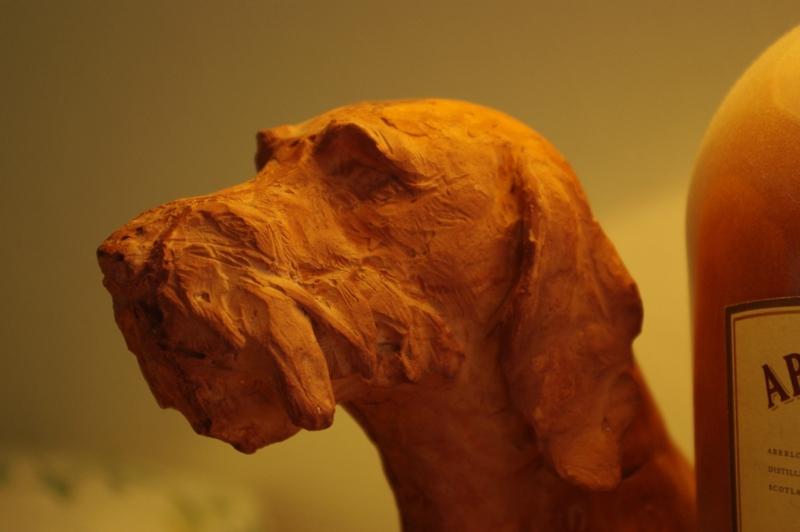 Fulbert DUBOIS sculpteur - sculpture chien chasse