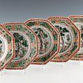 Porcelaines de la famille verte, <b>XVIIIème</b> <b>siècle</b>, Kangxi (1662 1722) @ DUPONT & Associés