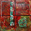 120x120cm Poétiques en rouge