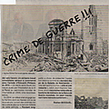 Colloque à l'hôtel-de-ville du Havre, 7 septembre 2019: COMMEMORER UN <b>CRIME</b> DE <b>GUERRE</b>?