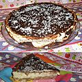 Cheesecake chocolat - noix de coco