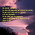<b>Jean</b> <b>5</b>:24 - Versets d'Or Pur (8 - 43)