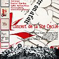 Affiche du concert et stage de ce week end....