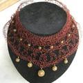 collier oriental version large perlée