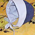 bonnet 3 mois polaire marine piqué bleu ciel 3