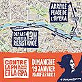 ORGANISATION DE LA MARCHE DU 19 <b>JANVIER</b>