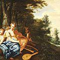 Ecole Flamande, vers 1630, Les <b>cinq</b> <b>sens</b>
