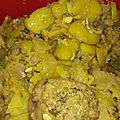 Boulettes bœuf, aux fèves et citron