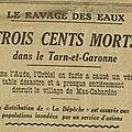<b>Inondations</b> de 1930 : les dégâts dans le TetG