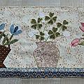 Patchwork : vases et corbeilles fleuris bloc 9