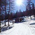 À pied, à ski de fond ou à raquette, au col de la pousterle