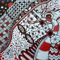 Red planet zentangle