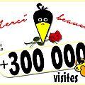 + 300 000 visites ...