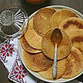Harcha façon pancakes (pancakes à la semoule)