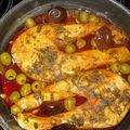 Poisson a la marocaine aux olives et piments nora