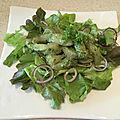 Salade de turbo sauce wasabi + sashimi de turbo