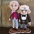 Carl et Ellie ! d'après Zombiegurumi
