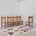Ensemble de 5 <b>chaises</b>