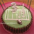 Gâteau anniversaire rugby