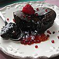 fondant chocolat coeur de fraise
