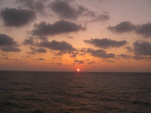 Coucher de soleil face la Mediterranee, Akko