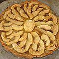 Tarte à la confiture de figues et aux pommes