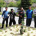 Les CAPA1 EER fleurissent la commune de St Guillaume