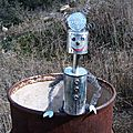 Déchet métal Sculpture personnage Panique à Jolibois G.Letourneur - Objet Art Création récupération Déchets métalliques - Recyclage Valorisation métal