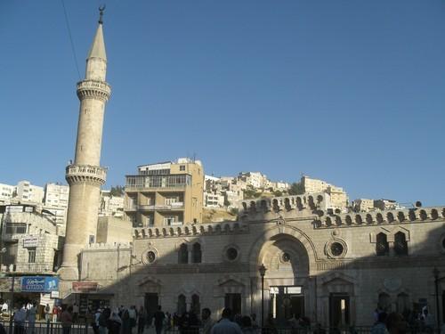 Amman, grande mosquee, down town