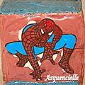 Gâteau Spiderman détail décor tout chocolat