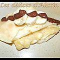 Crêpe banane chocolat