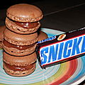 Macarons aux snickers