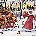 pere-noel,-luge,-ours-en-peluche,-cadeaux,-neige,-dessin-anime-149529
