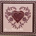 coeur rose chocolat