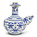 A blue and white kendi, ming dynasty, wanli period (1573-1620)