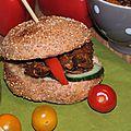 Burgers froids à l'effilochée de porc épicée pour les 10 ans de la Route du sable!